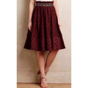 Anthropologie Maeve Diamond-Cut Skirt